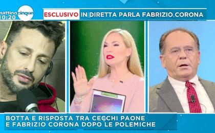 Fabrizio Corona contro Alessandro Cecchi Paone: 'La signorina si sta arrabbiando'