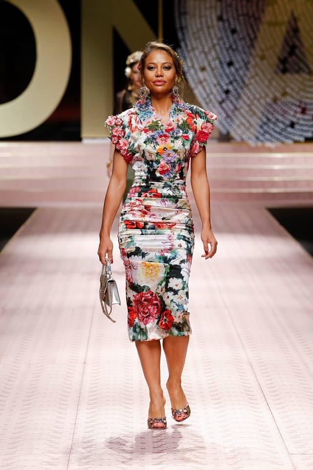 Abito a fiori a tubino Dolce & Gabbana primavera 2019