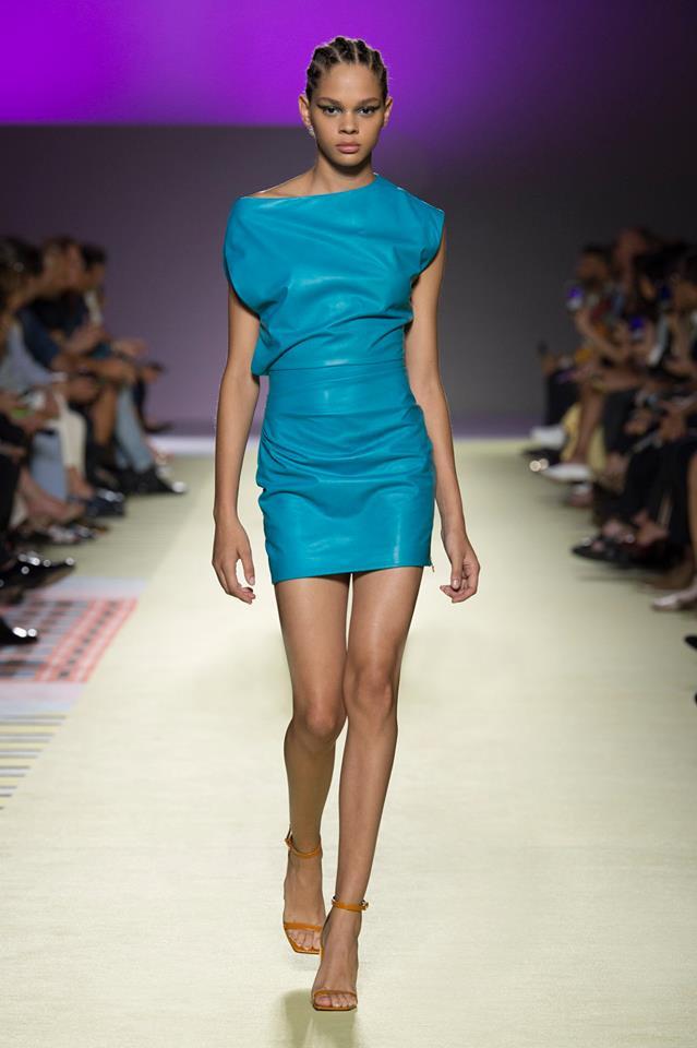Abito azzurro Versace