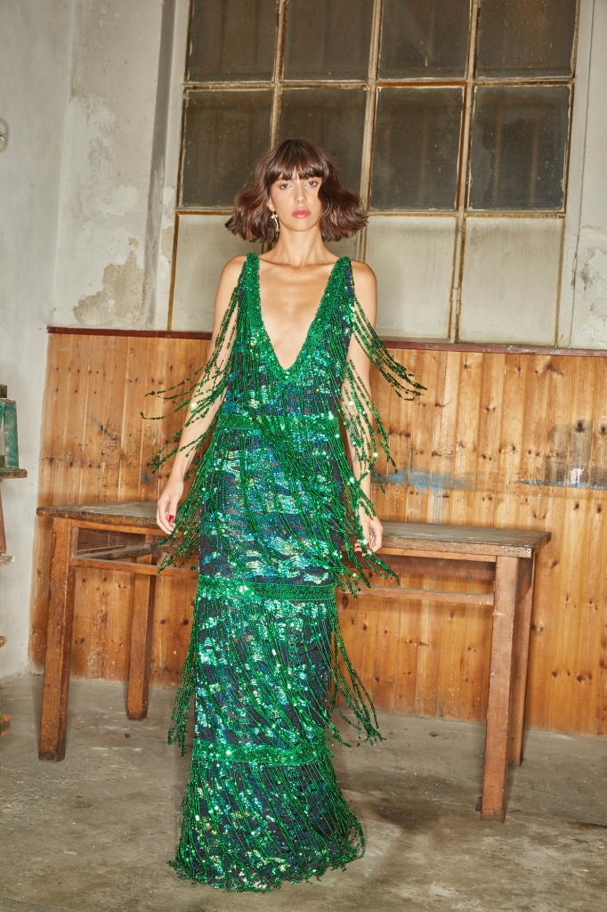 Abito verde smeraldo Alcoolique