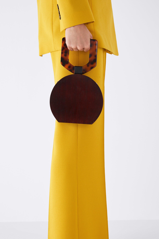 Borsa a mano in legno Zara a 39,95 euro