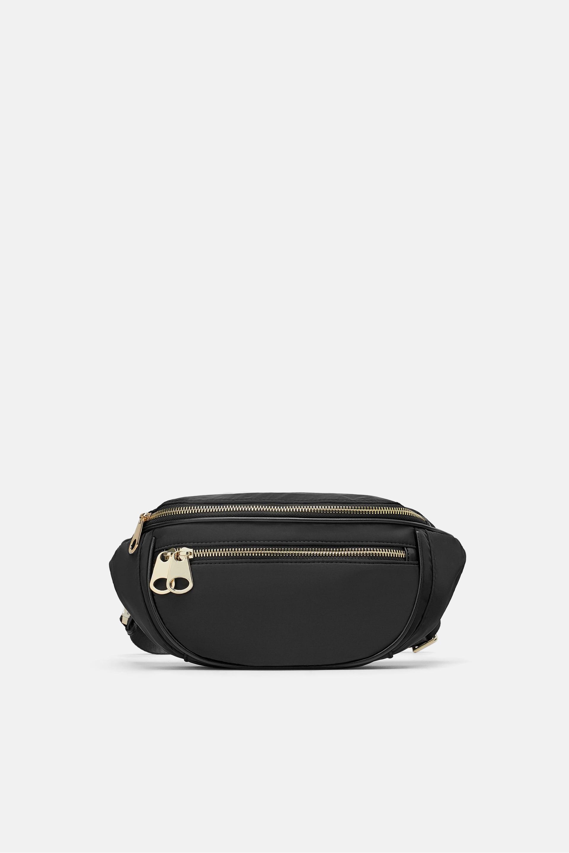 Marsupio nero Zara a 29,95 euro