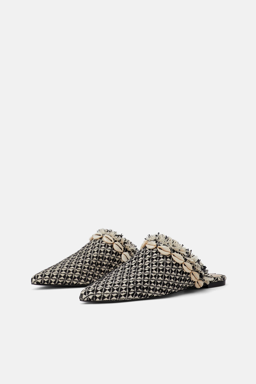 Sabot con conchiglie Zara a 39,95 euro