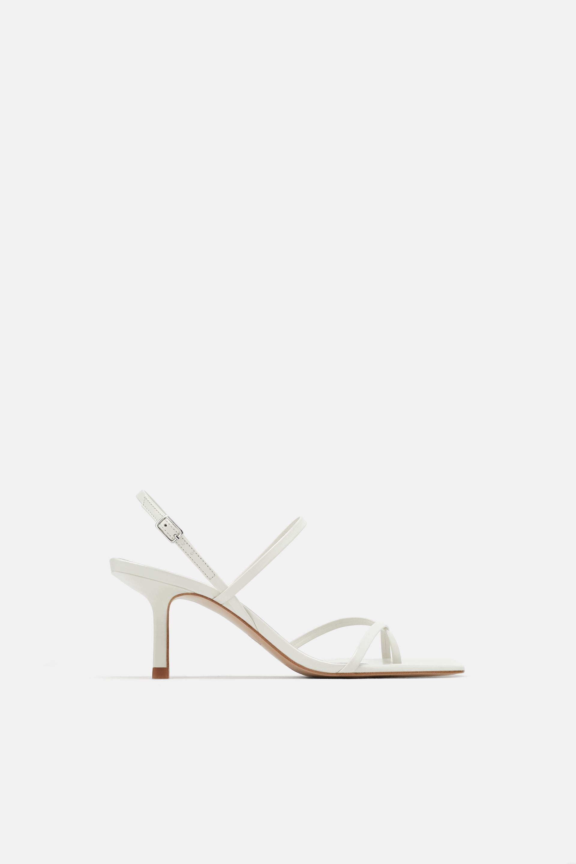Sandali alti bianchi Zara a 55,95 euro