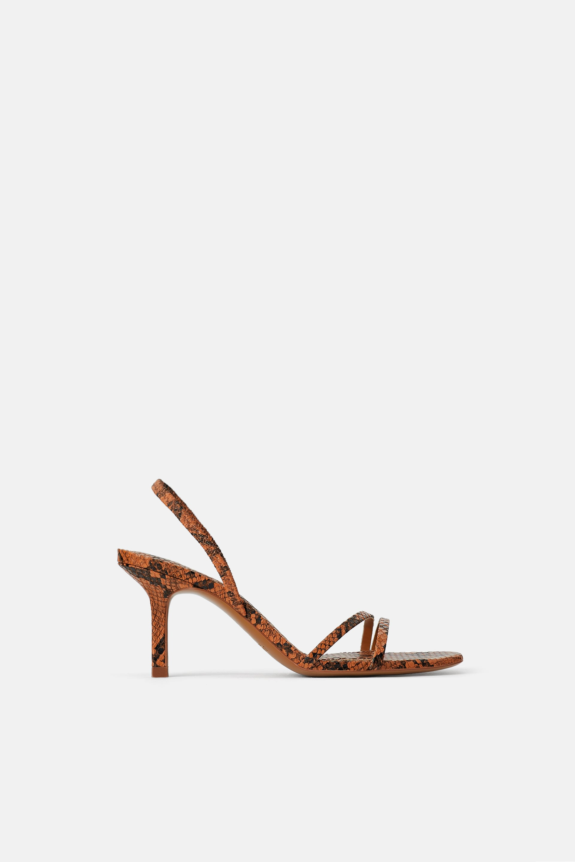 Sandali pitonati Zara a 39,95 euro