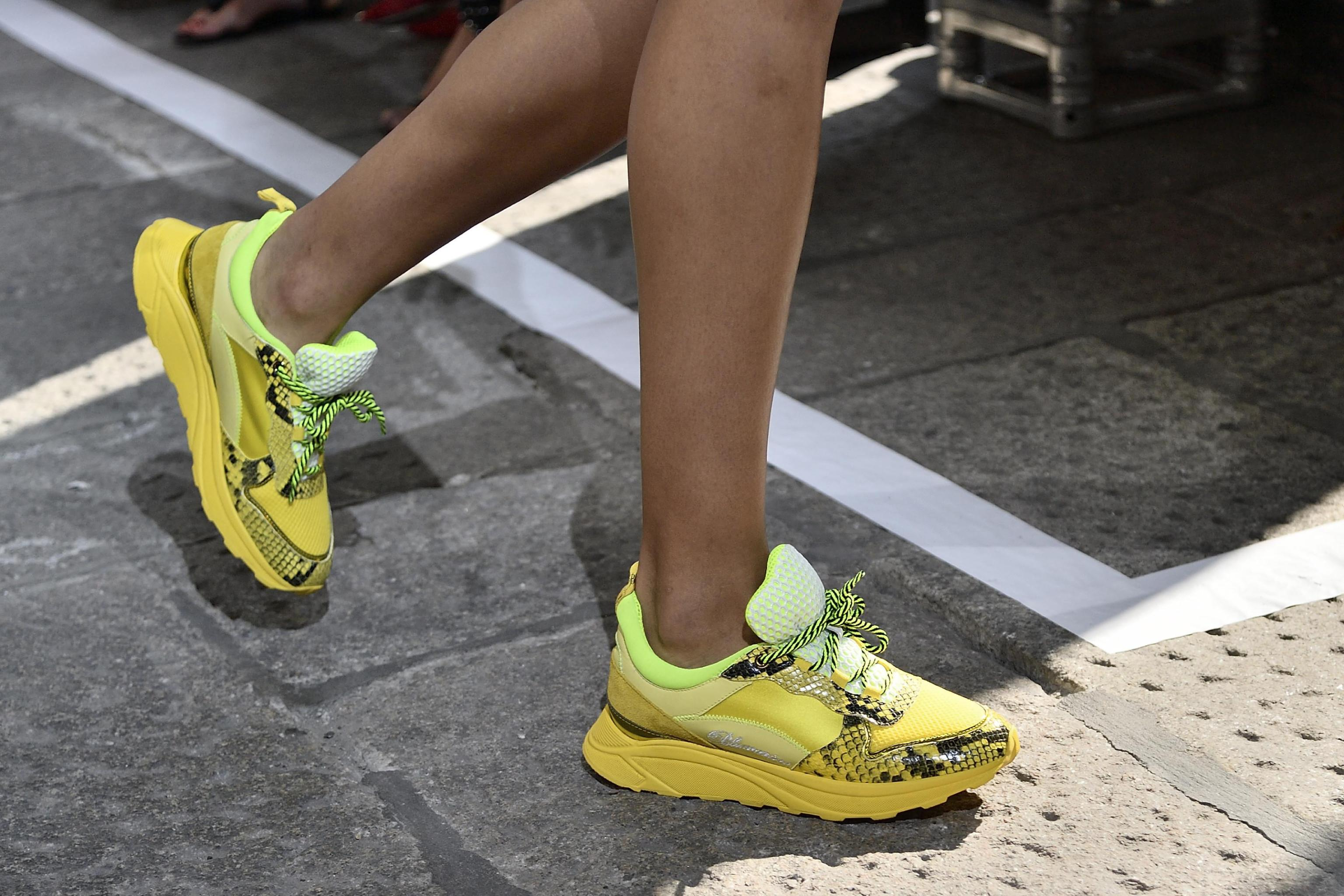 Sneakers gialle Blumarine