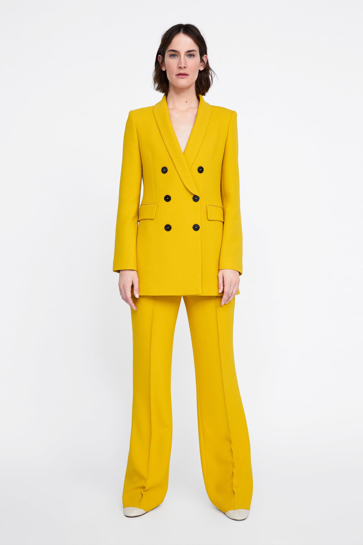 Tailleur giallo Zara