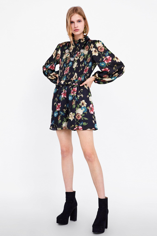 Vestito corto a fiori Zara primavera 2019