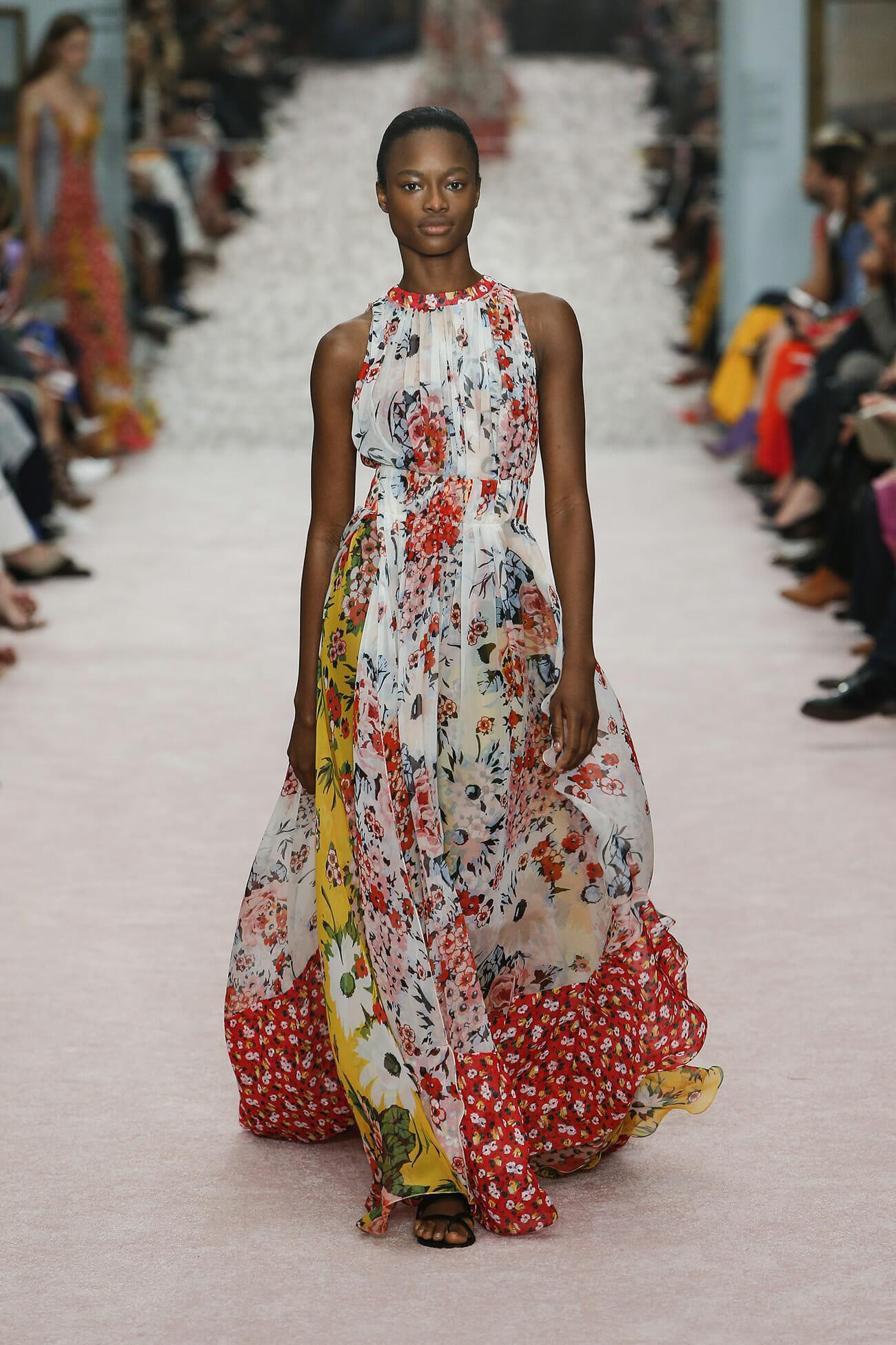 Vestito lungo a fiori Carolina Herrera