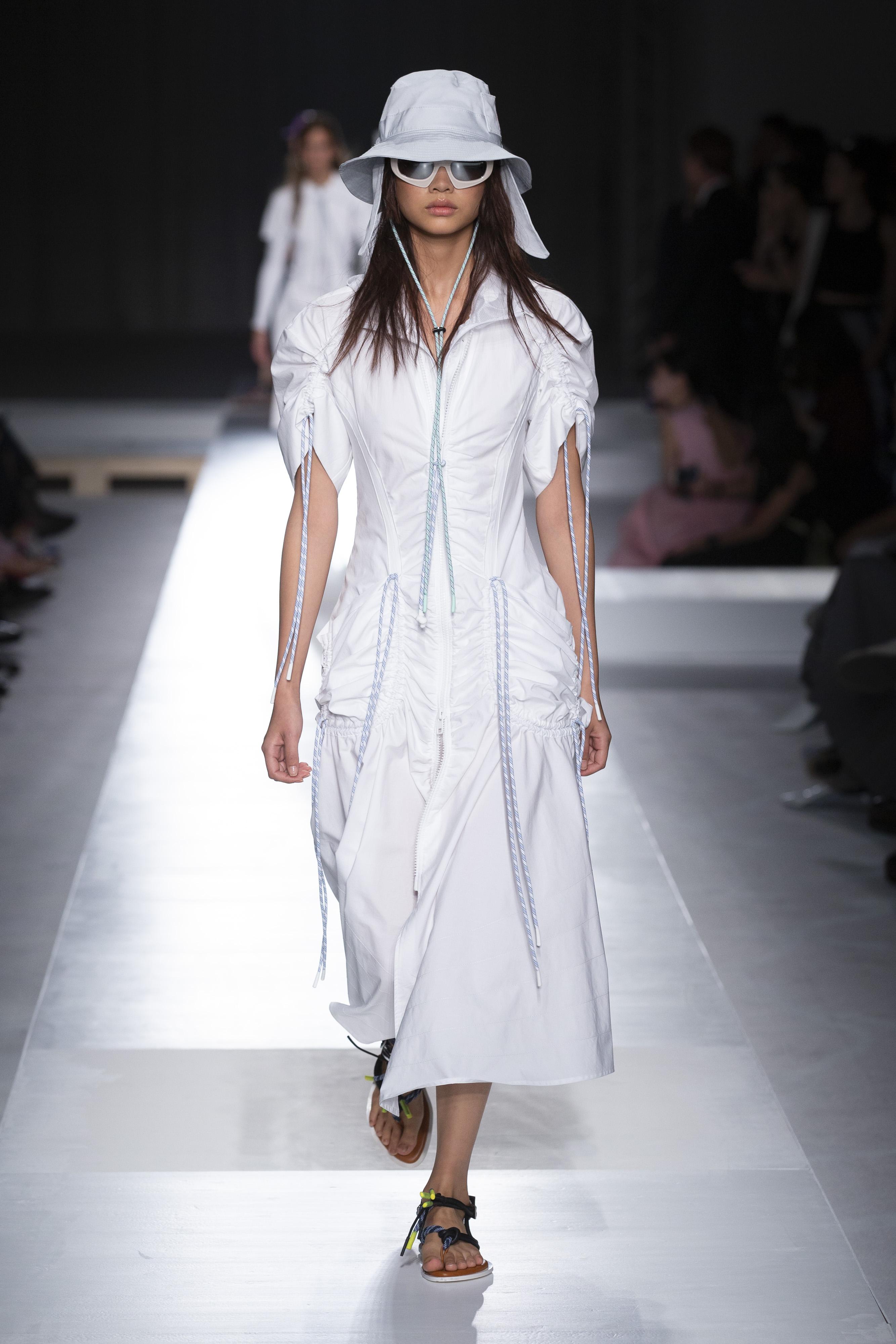 Vestito lungo bianco Sportmax primavera 2019