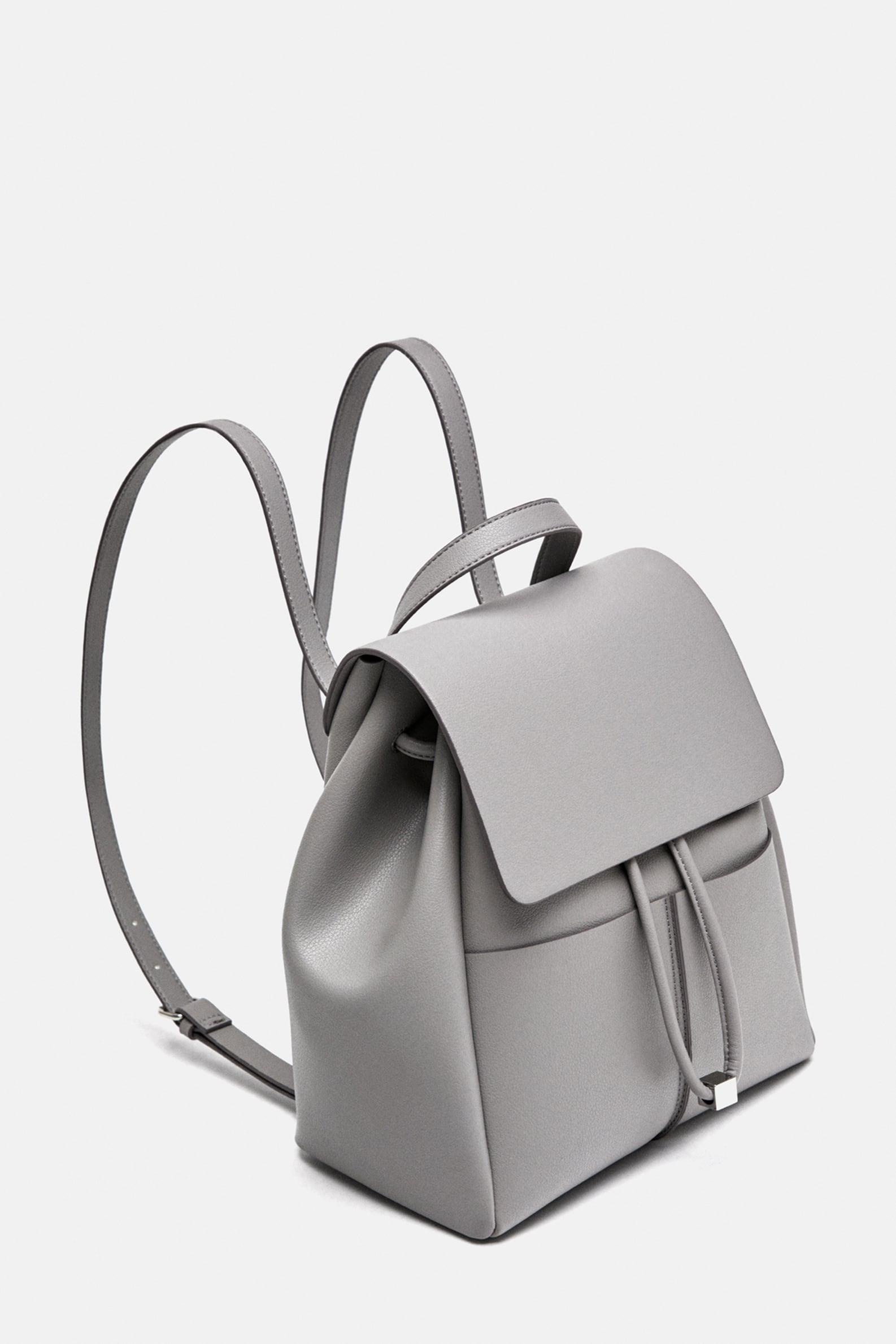 Zaino grigio Zara a 19,95 euro