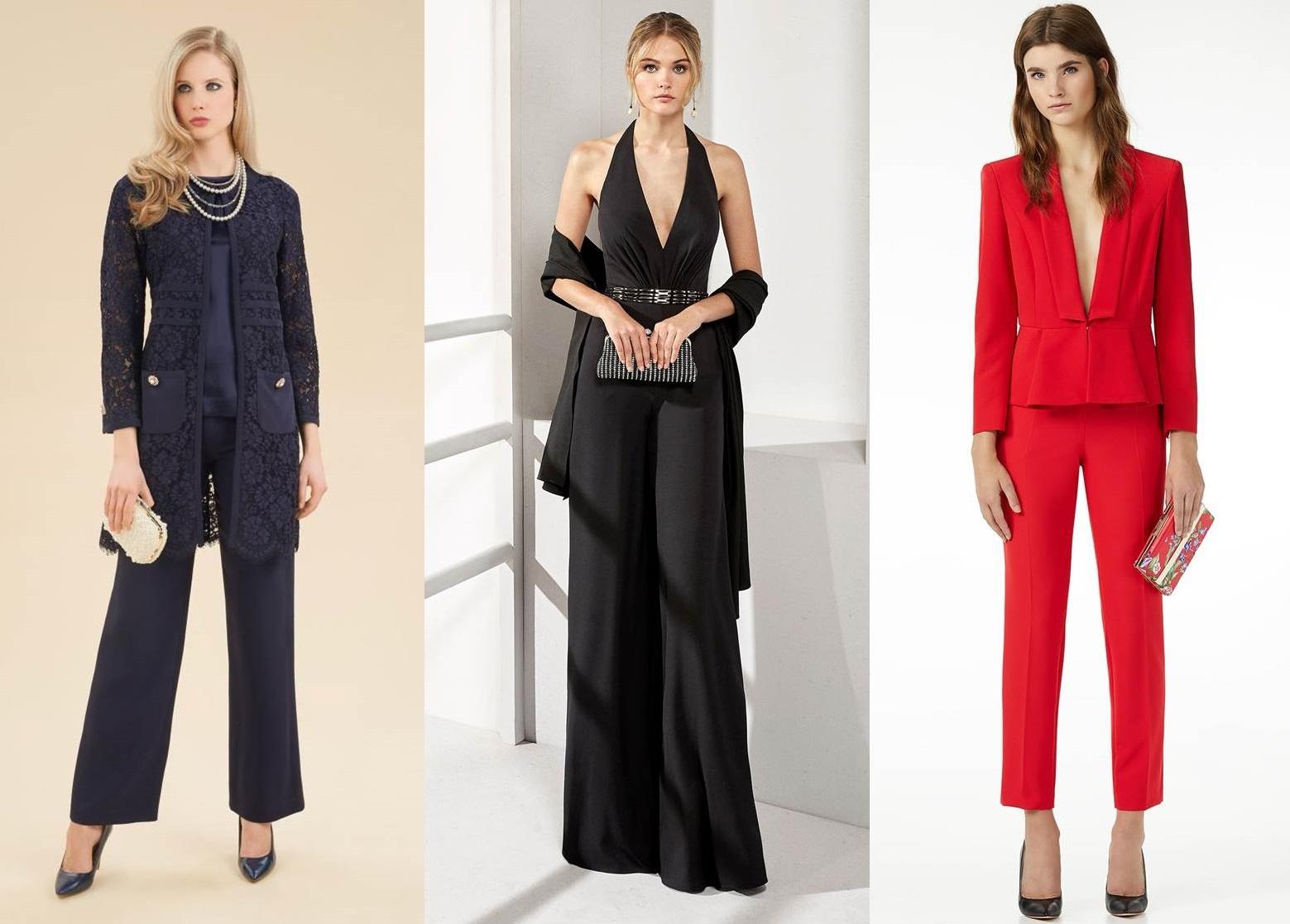 brand new f4e2d 01924 Abiti da cerimonia con pantaloni: tailleur, completi e non ...