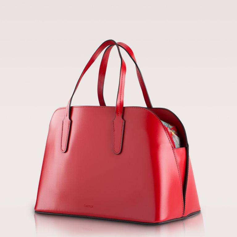 Borsa a bauletto rossa con fodera colorata Carpisa a 39,95 euro