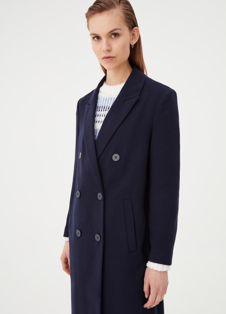 Cappotto doppiopetto blu OVS a 59,99 euro