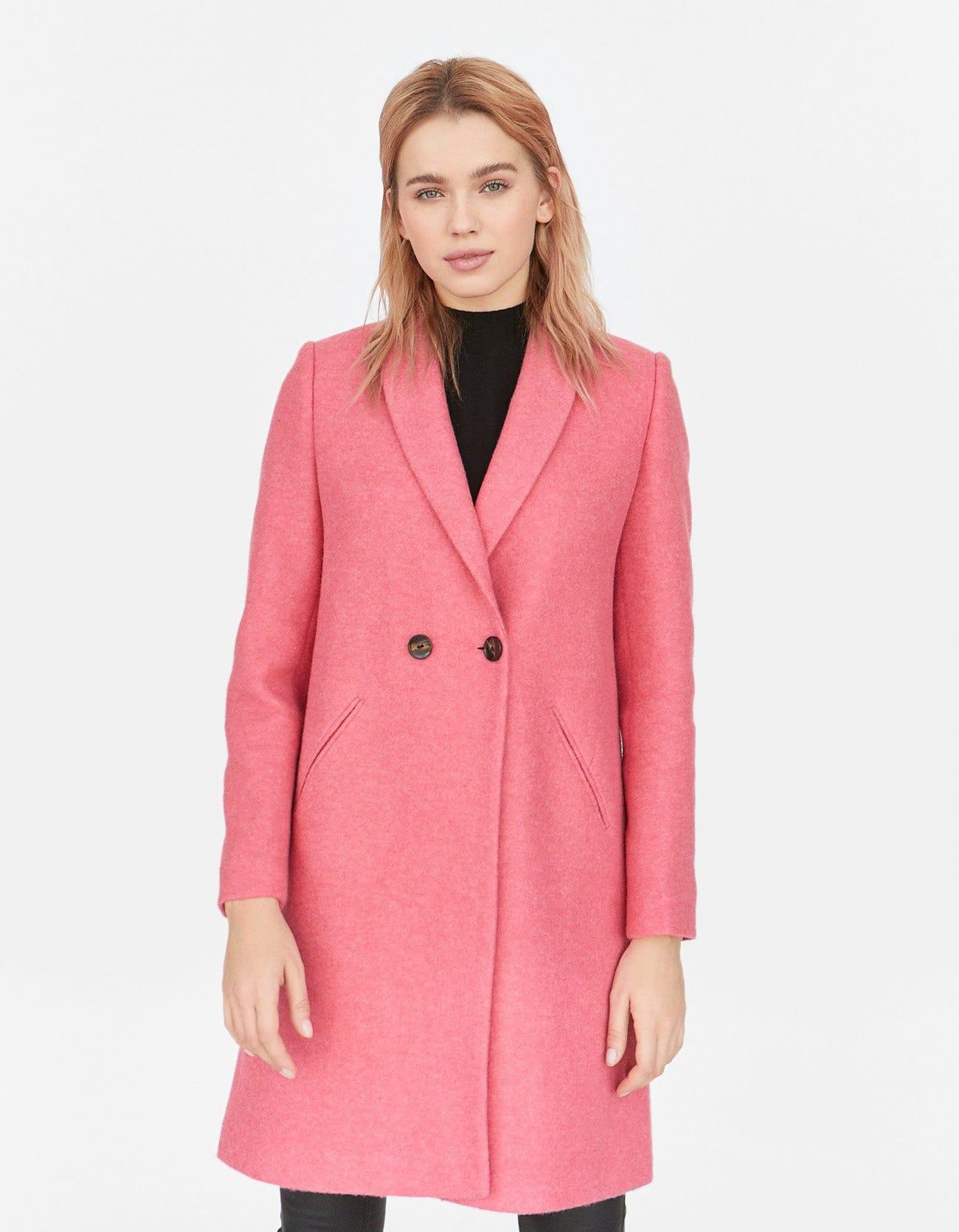 Cappotto rosa Stradivarius a 55,99 euro