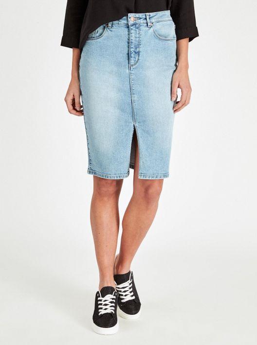 Gonna di jeans a tubino Piazza Italia a 17,95 euro