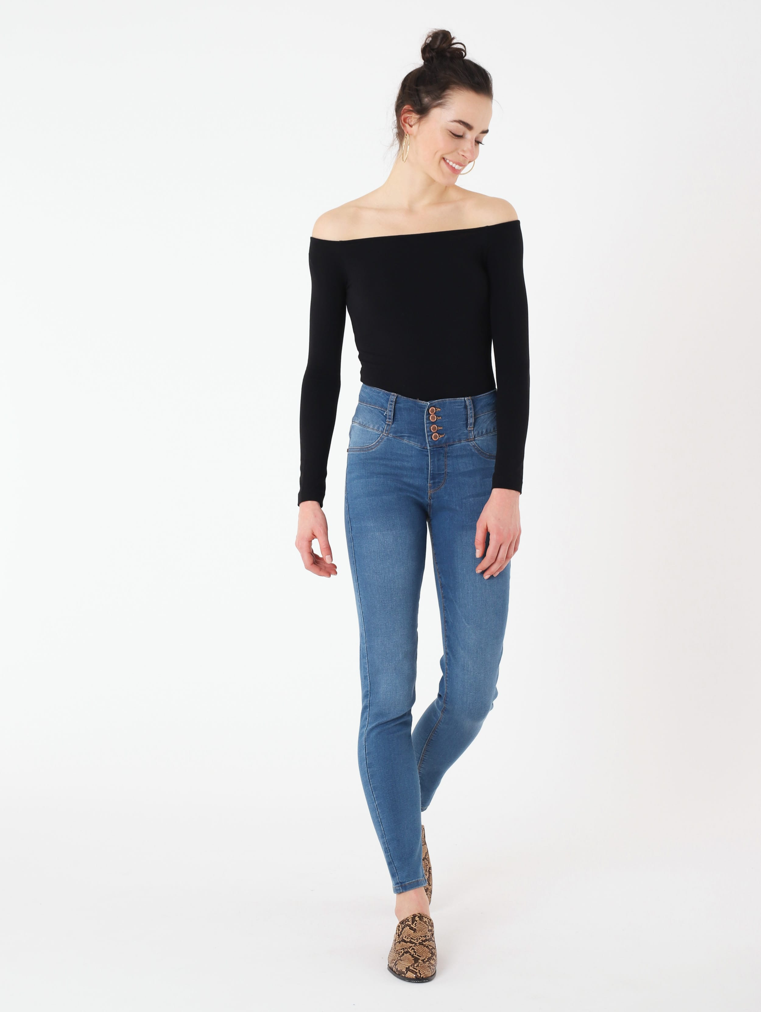 Jeans a vita alta Terranova a 19,99 euro