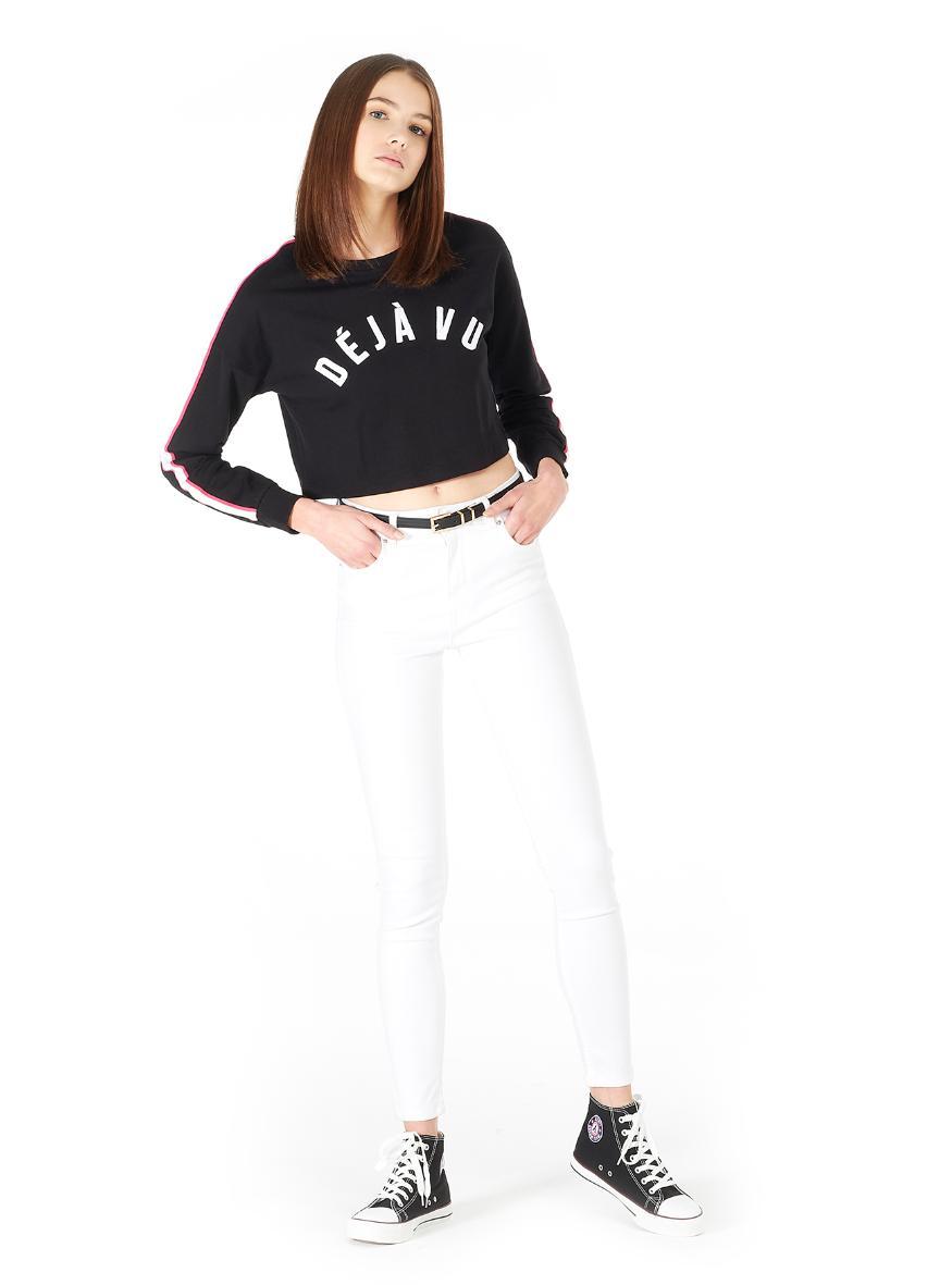 Jeans a vita alta bianchi Alcott a 18,95 euro