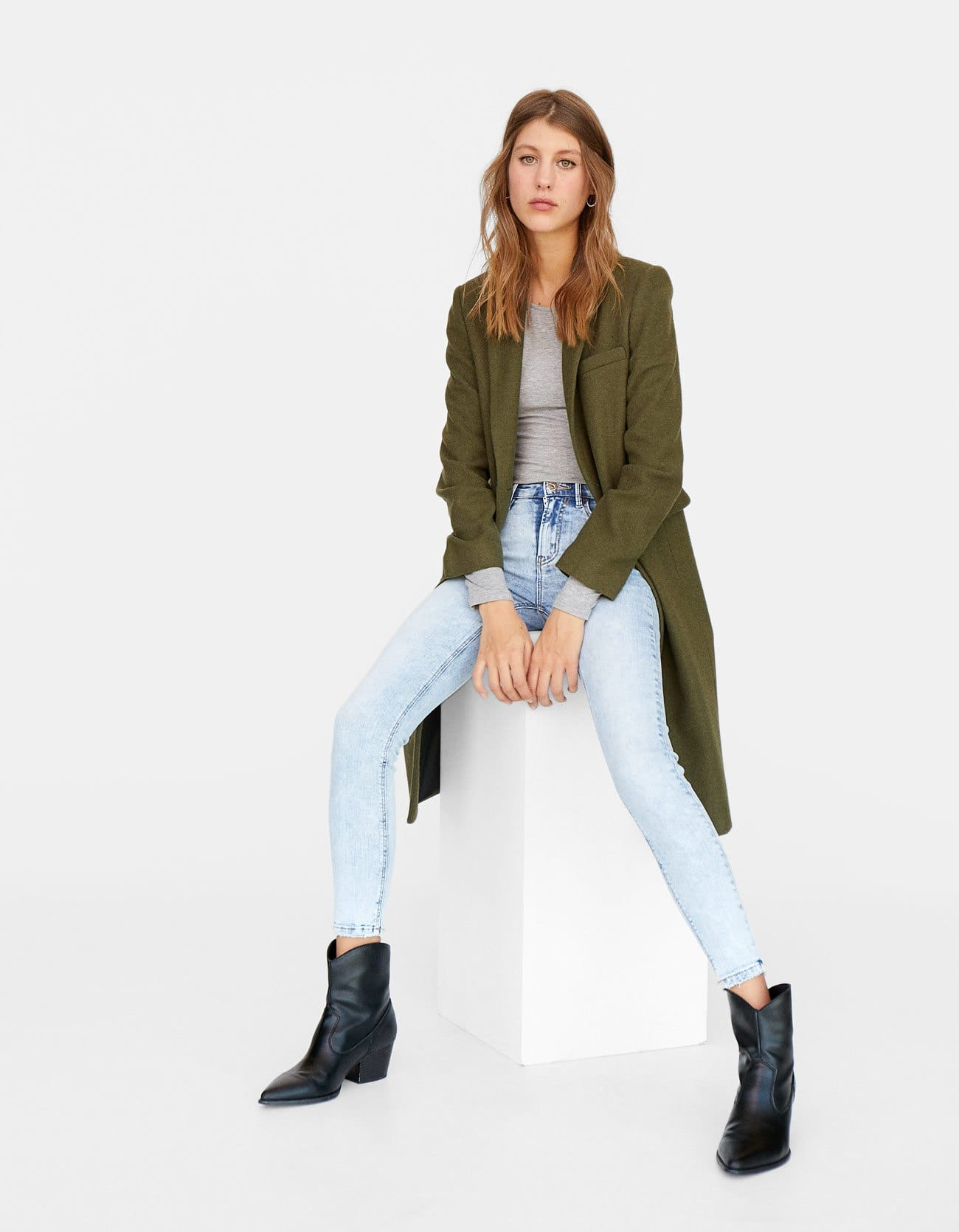 Jeans chiari a vita alta a 19,99 euro