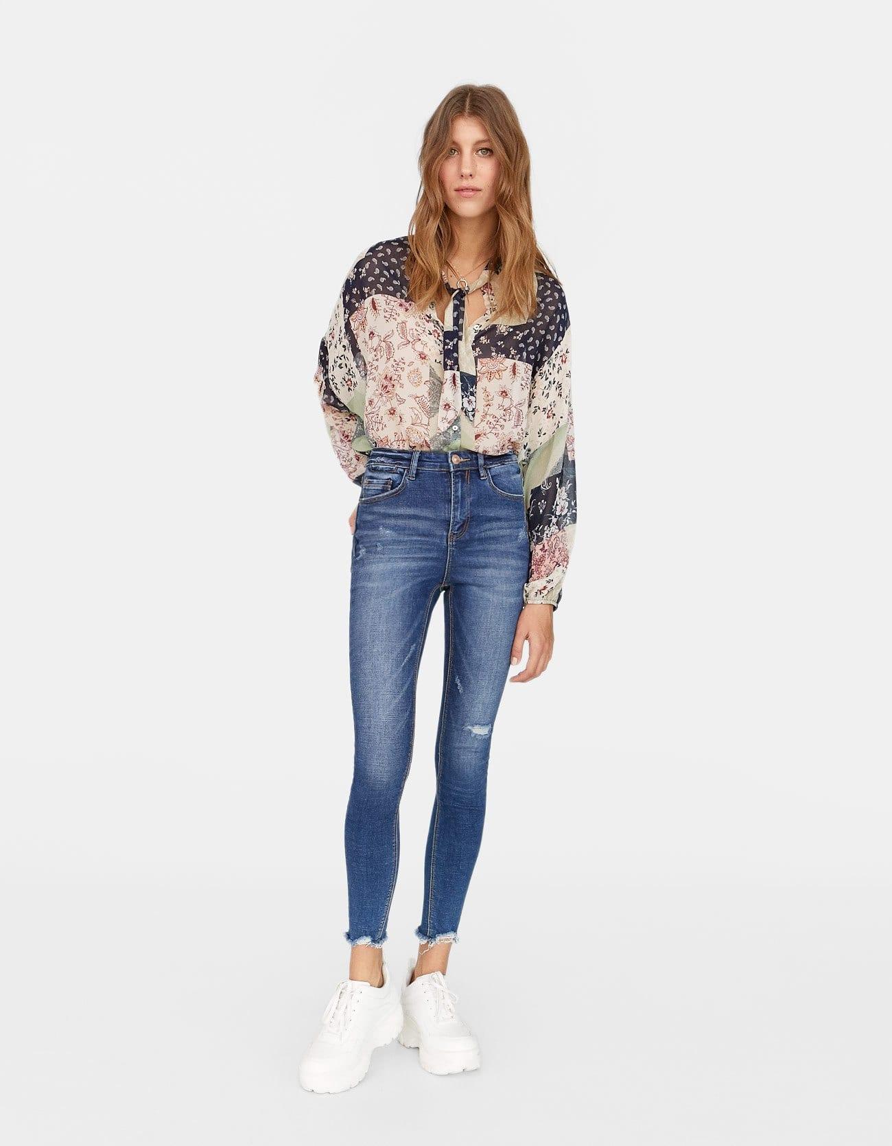 Jeans skinny a vita alta a 19,99 euro