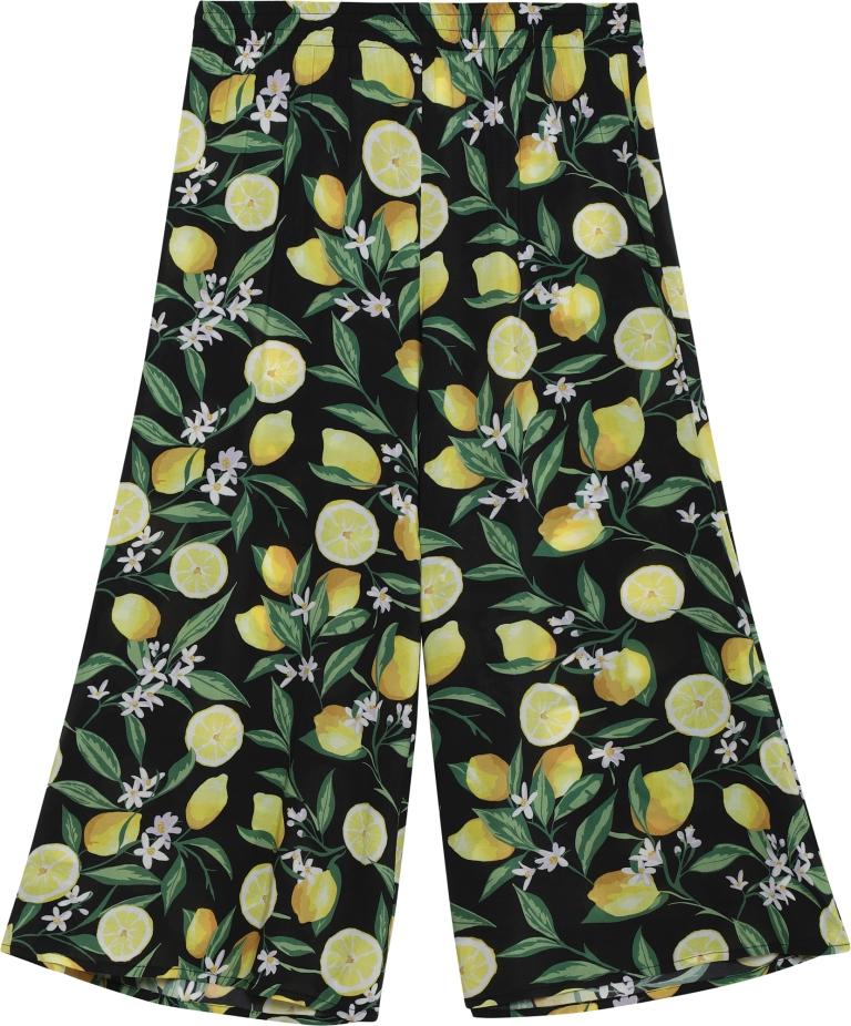 Pantaloni a palazzo con stampa frutta Tezenis