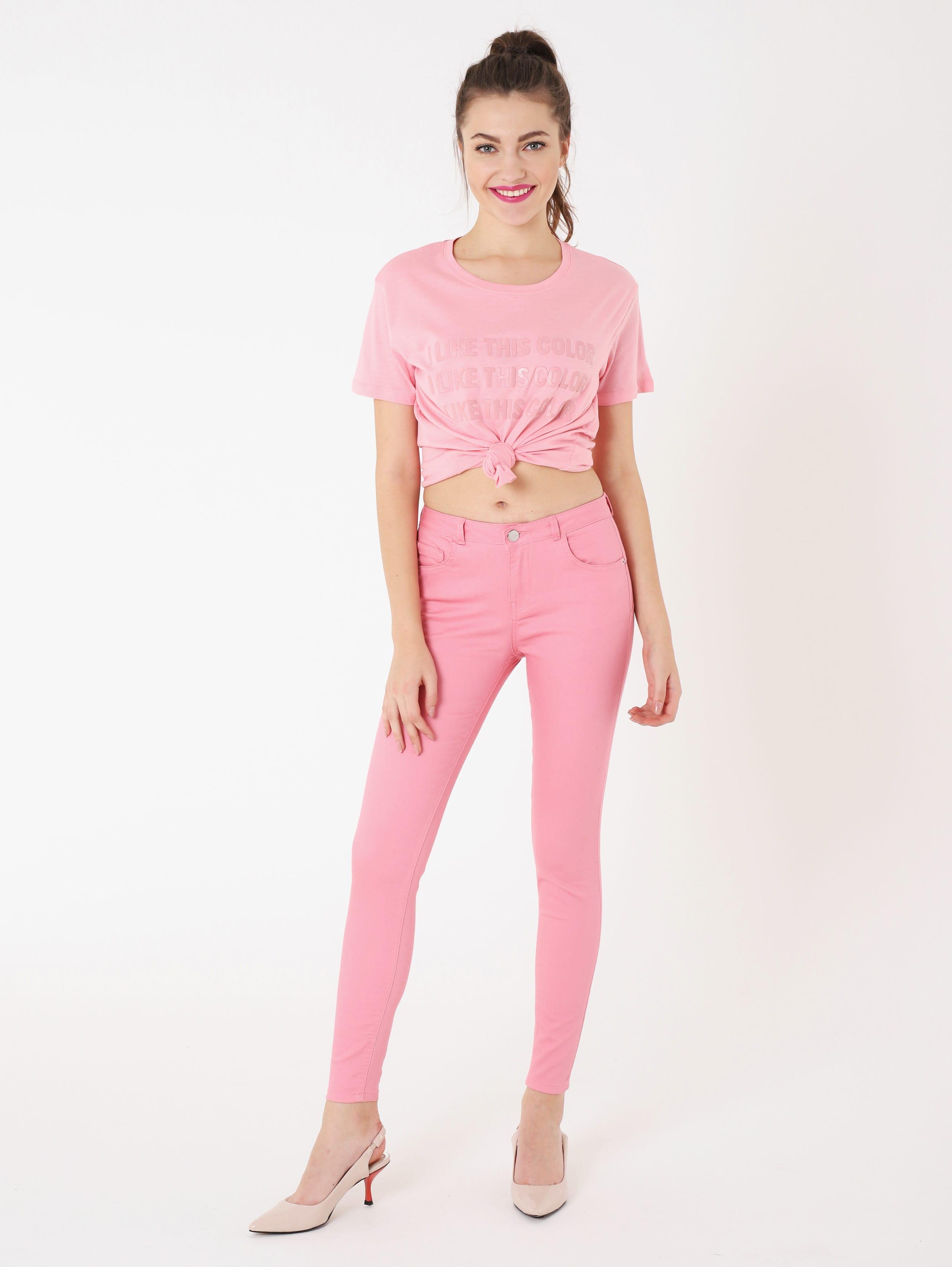 Pantaloni rosa Terranova a 17,99 euro