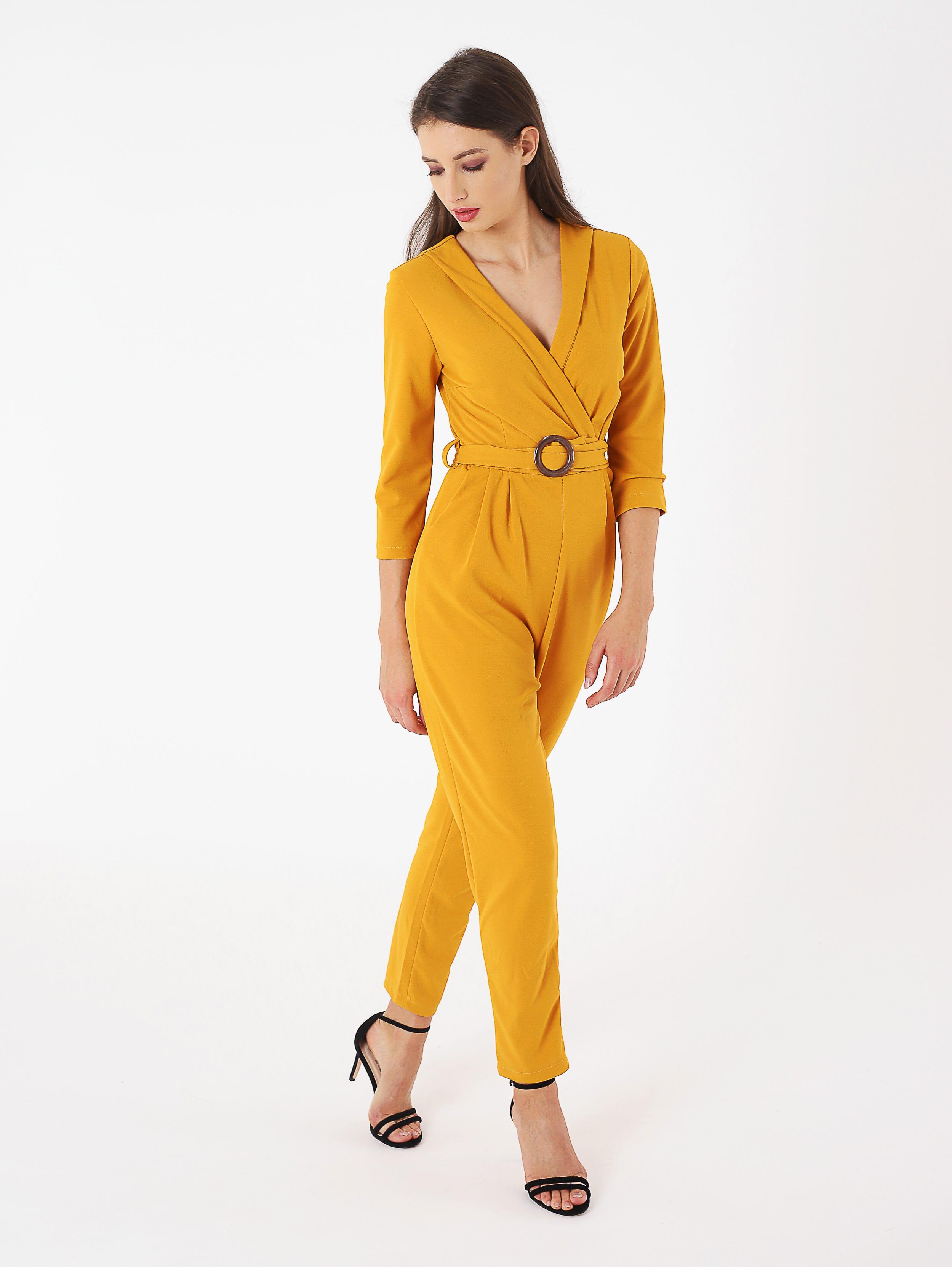 Tuta jumpsuit giallo ocra Terranova a 29,99 euro