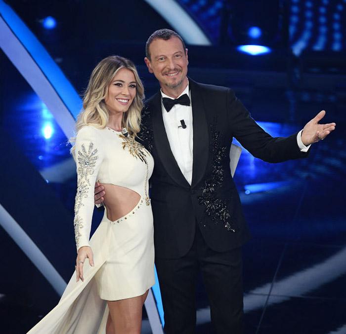 Diletta Leotta e Amadeus, serata finale di Sanremo 2020
