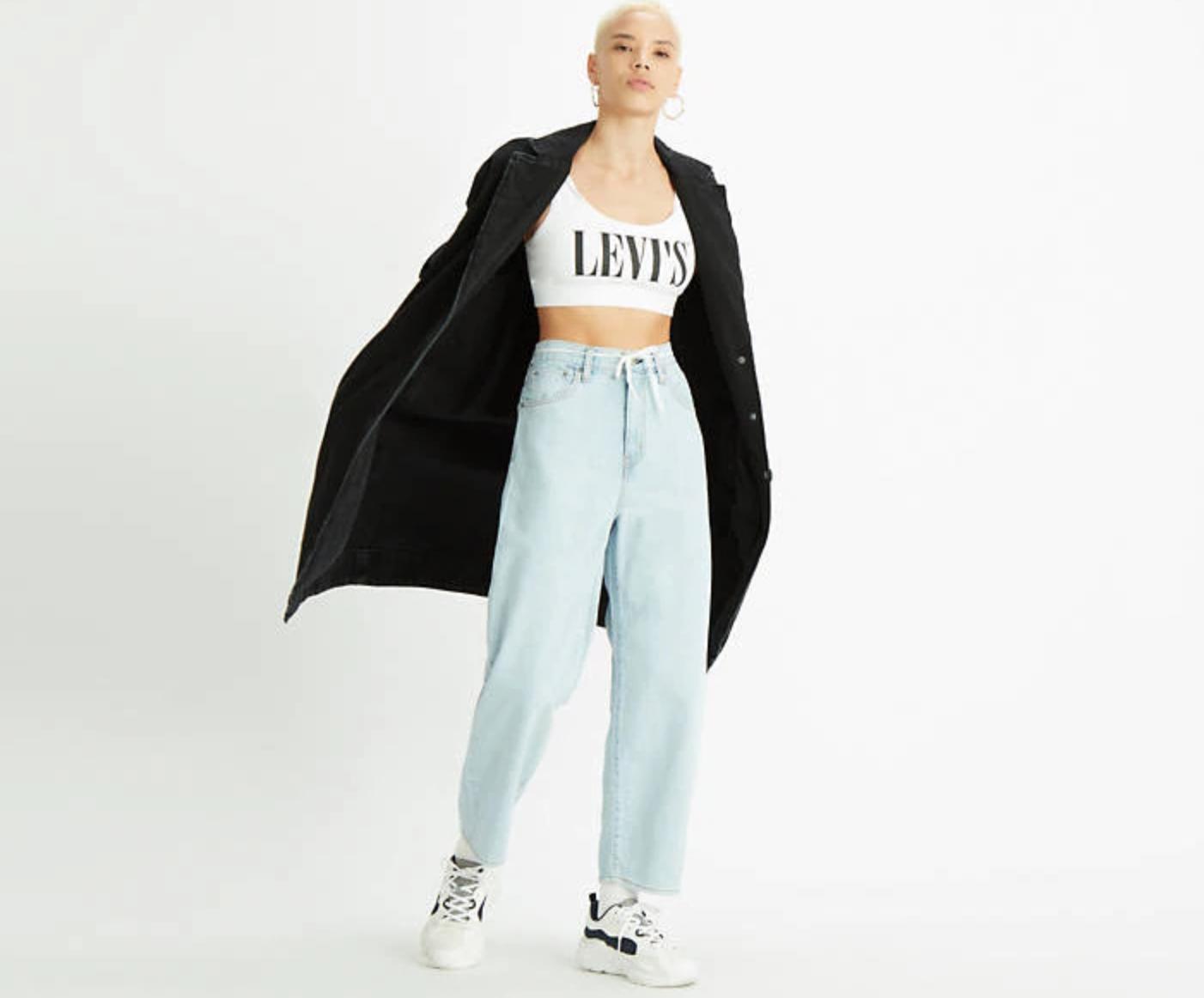 Balloon leg jeans firmati ovviamente Levi's. Prezzo 120.