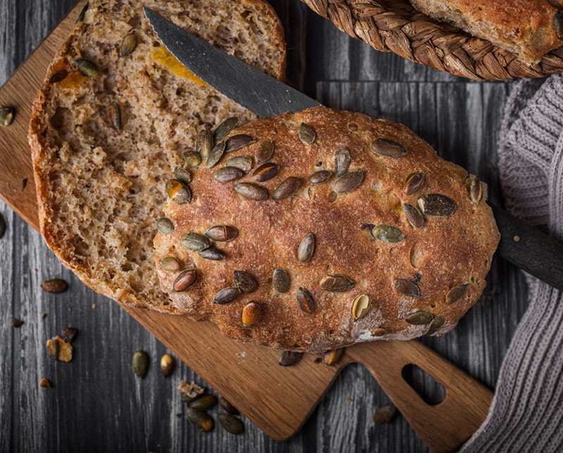 Pane fatto in casa con i semi