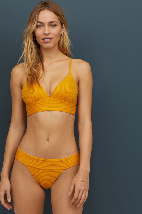 Bikini push-up giallo