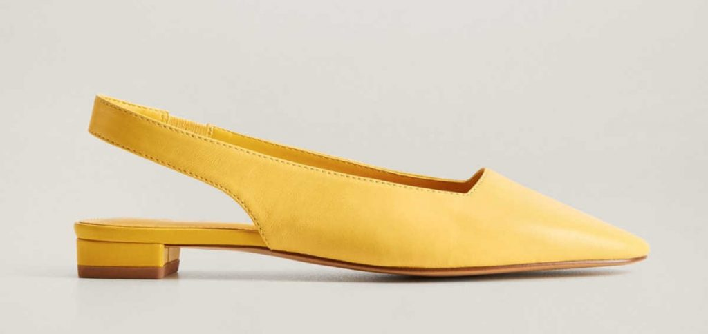 Sandalo slingback giallo
