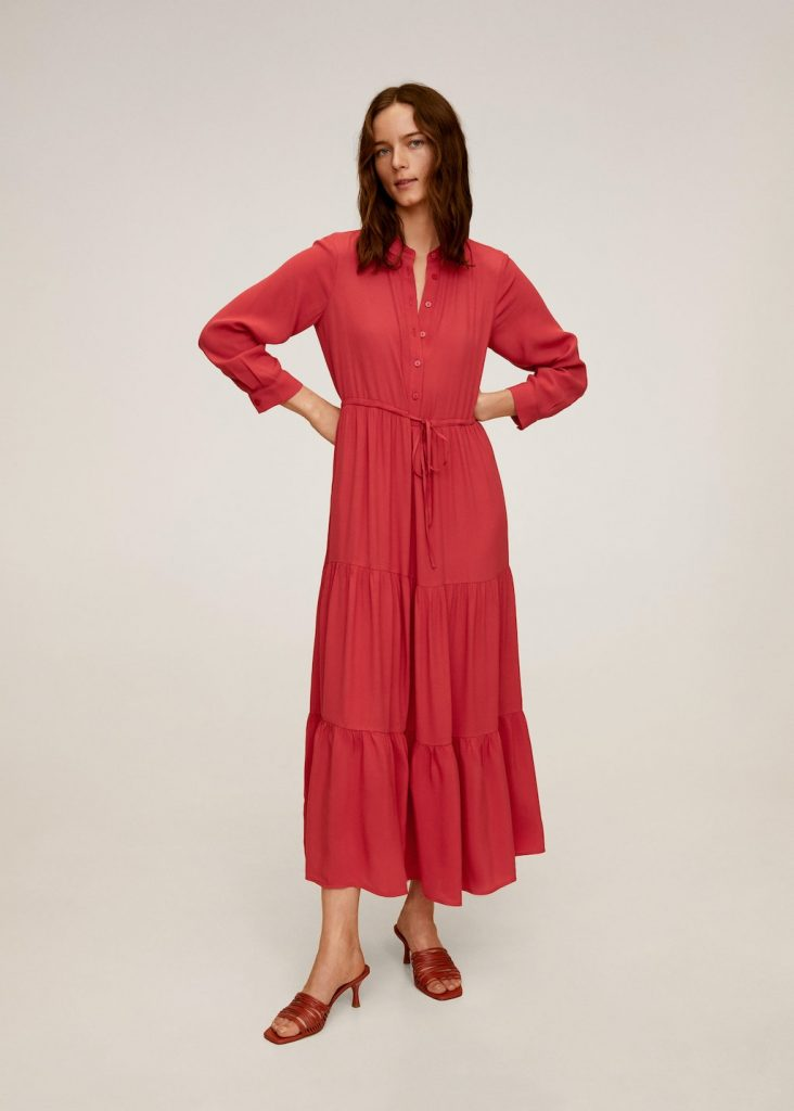 Vestito lungo rosso