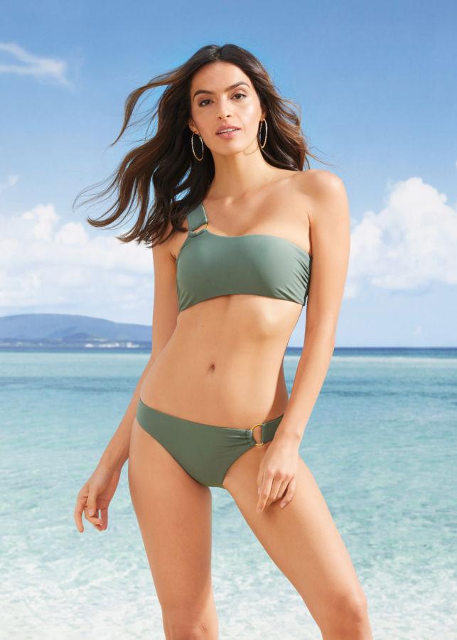 Bikini a fascia monospalla