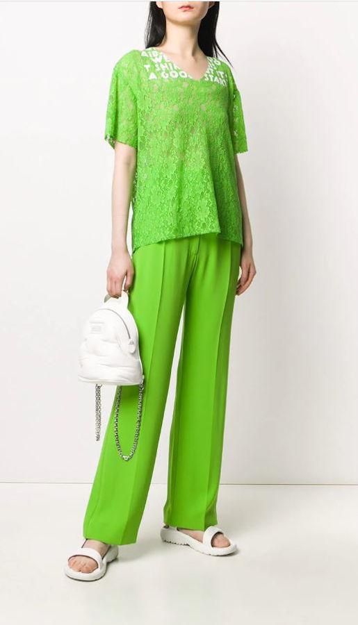 Pantalone sigaretta verde