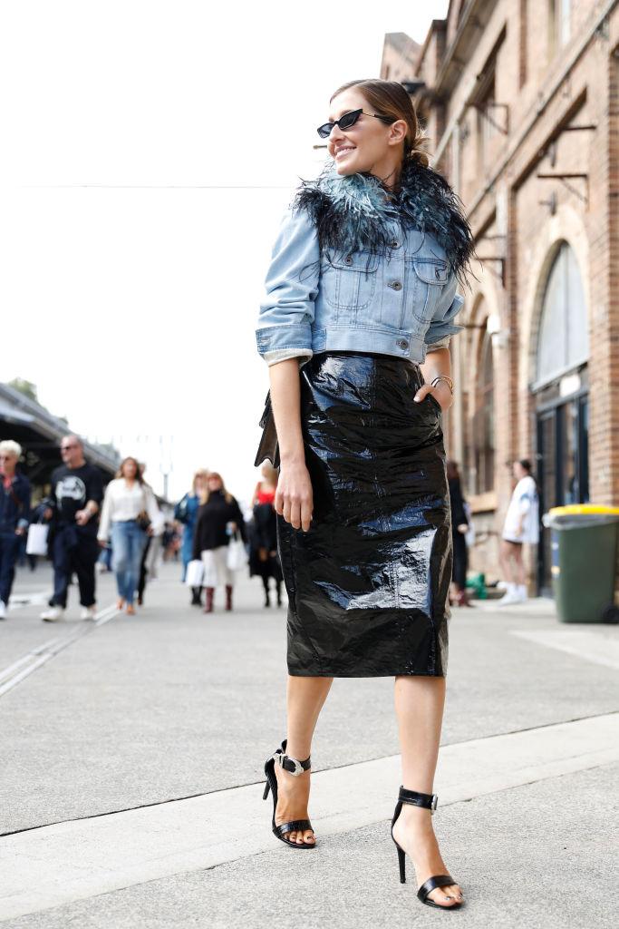 Giacca in jeans Prada