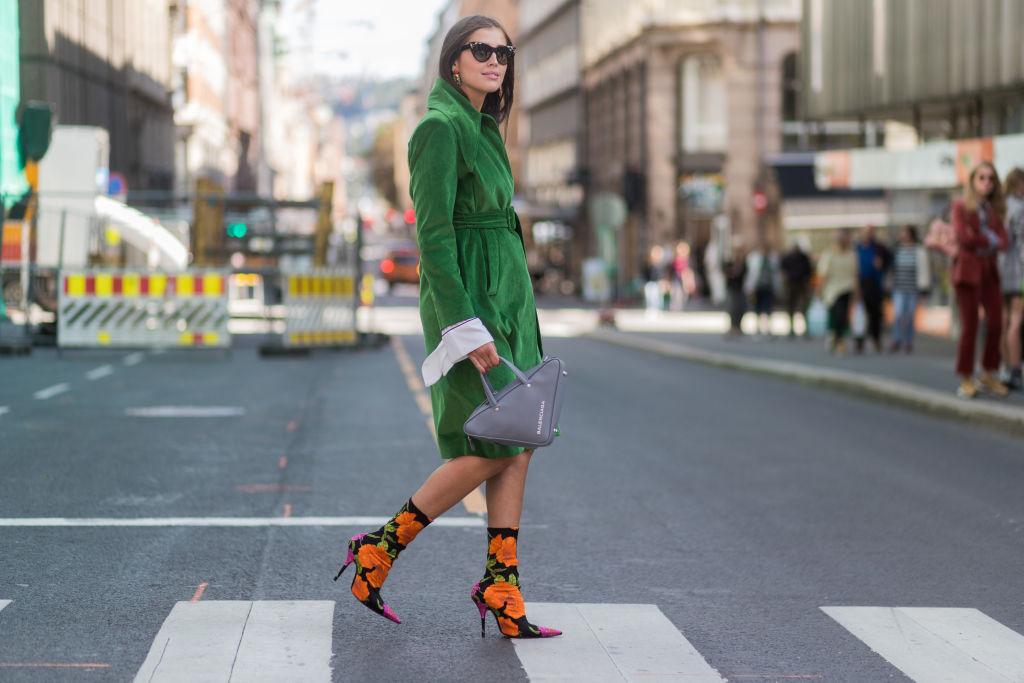Look stivali con tacco autunno