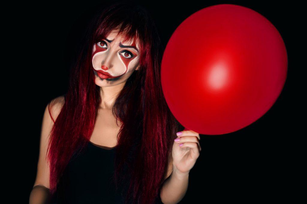 Make-up Halloween clown