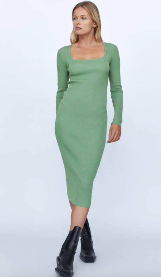 Vestito verde menta