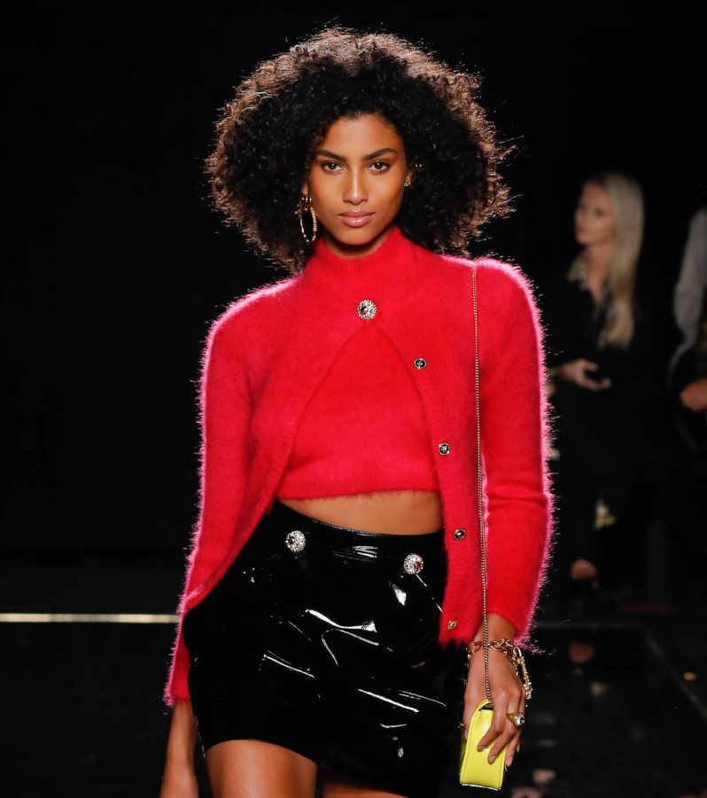 Look cardigan maglione rosso