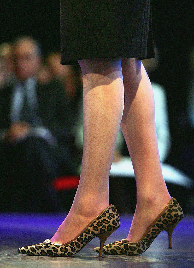 Scarpe leopardate Theresa May