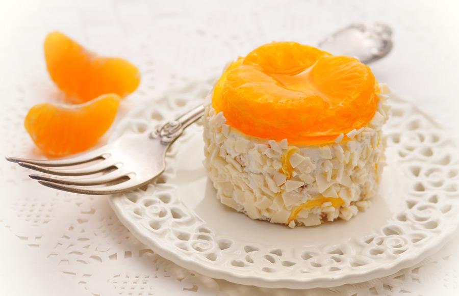 Bavarese di mandarini