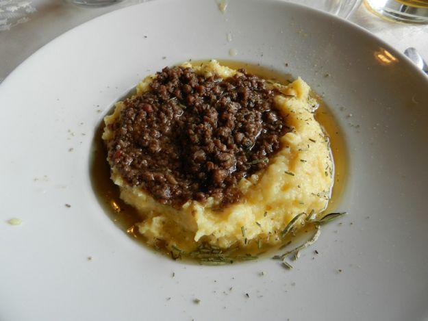 Bruscitt con polenta