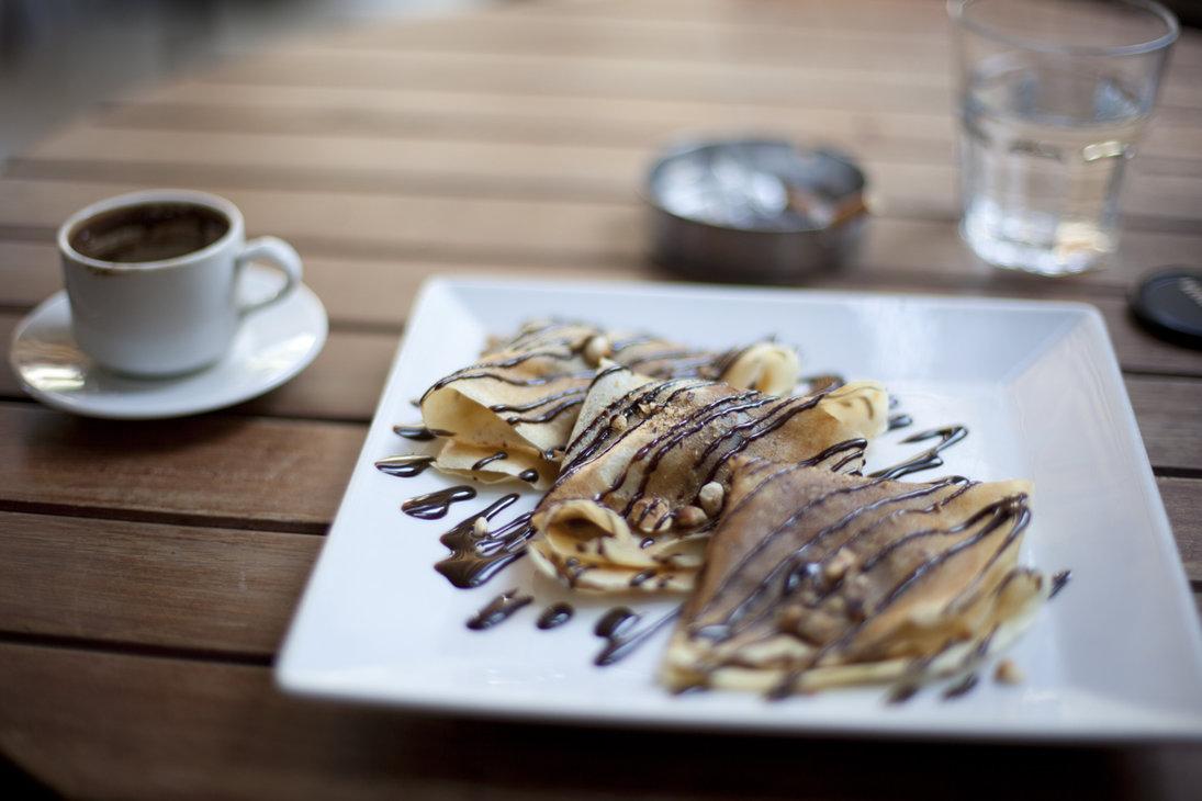 Crepes al caffè e cioccolato