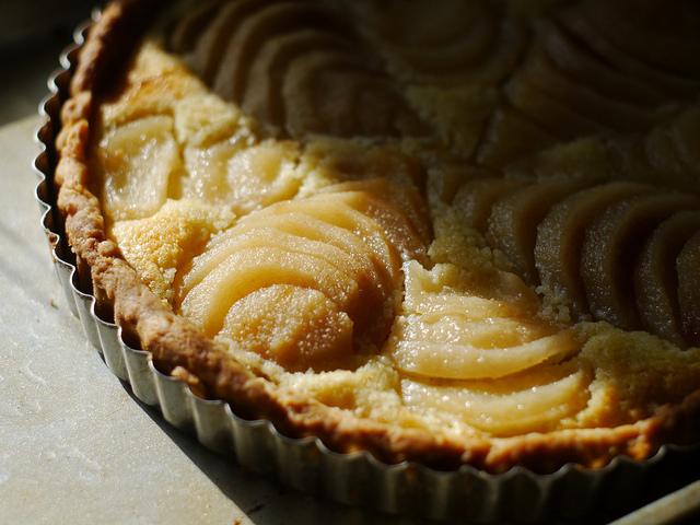 Crostata di pere e crema pasticcera