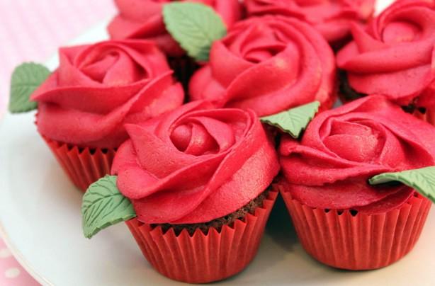 Cupcakes con ganache alle fragole