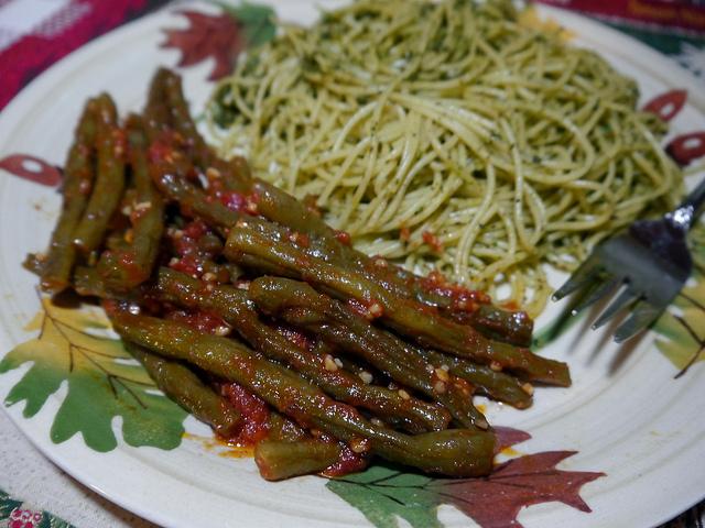 Fagiolini in salsa rossa