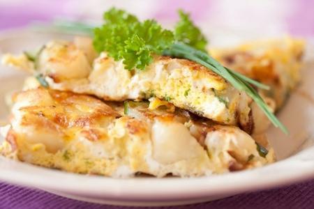 Frittata con pollo e patate