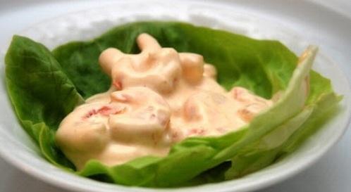 Gamberetti e patate in Salsa Rosa