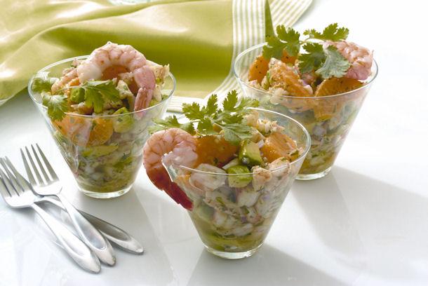 Insalata di gamberi con salsa yogurt